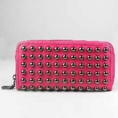 Red rivet long section rose | evening bags | ladies wallet