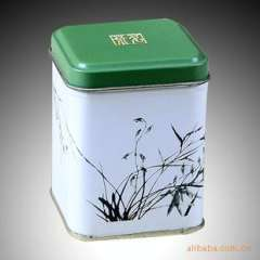 Quality tea packaging | tin | small square bamboo flower pot | excellent quality | quality tinplate material