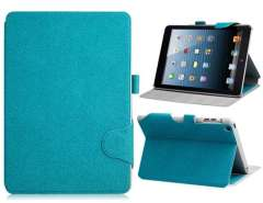 Bi-Fold Patterned Faux Leather Case for iPad mini (Green)