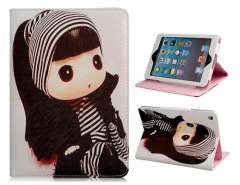 Cartoon Ddung Faux Leather Protective Case for iPad Mini