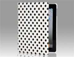 Points Design 360 Degrees Rotatable PU Protective Case for The new iPad (White)