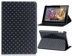 Patterned Faux Leather Protective Case for iPad Mini (Black)