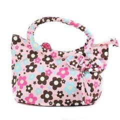 Bow bud colorful cotton canvas bag