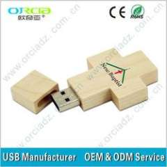 1gb, 2gb, 4gb, 8gb, 16gb, 32gb cross wooden usb flash drive, Godly wooden crosses flash drive