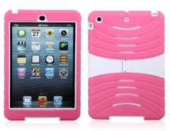 Silicone & PC Plastic Protective Case for iPad Mini (Pink)
