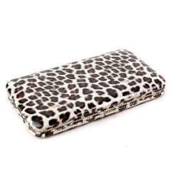 Retro palace | Fashion leopard patent leather wallet | Mini Clutch evening bag | Grey