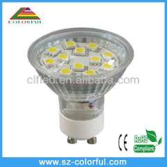 SMD warm white led spotlight ce rohs gu10 led spotlight