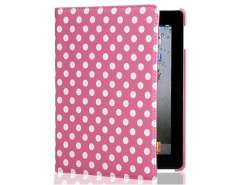 Points Design 360 Degrees Rotatable PU Protective Case for The new iPad (Pink)