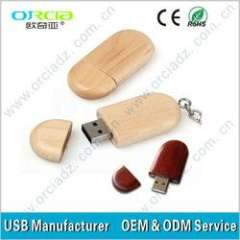 OEM wooden usb flash drive material wood promotion bamboo usb disk 1GB 2GB 4GB 8GB (ORU-W001)