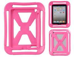Hollow Design Shockproof EVA Protective Case for The new iPad (Pink)