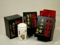 Tea wooden box | Iron Goddess of Mercy / Dahongpao / Jin Jun Mei / Pu'er | Single Window Series