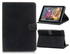 Matte Cowhide Protective Case for iPad Mini (Black)