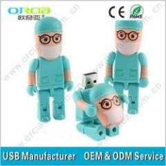 promotional gift usb flash drive people nurse with customer logo