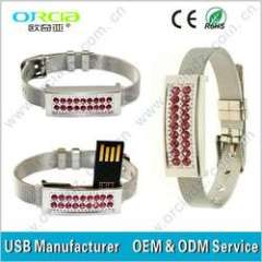 good gift jewelery usb flash stick bracelet shape 1gb 2gb 4gb 8gb 16gb 32gb