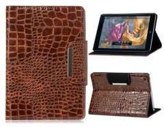 Patterned Dual-Fold Protective Case for iPad Mini (Brown)