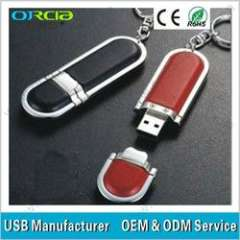 Bulk leather usb flash drive for business