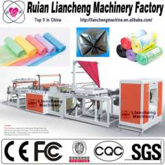 Plastic bag making machine and small paper bag making machine