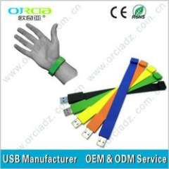 Hot Seller pvc bracelet high Quality high Speed USB Disk