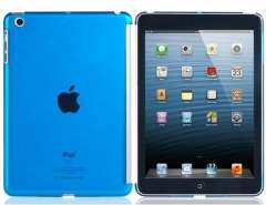 Transparent Protective Back Cover for iPad Mini (Blue)
