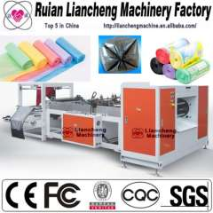 Plastic bag making machine and three side seal bag making machine