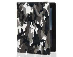 Camouflage PU Leather Case with Stand Function for The new iPad (Black)