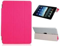 Patterned Faux Leather Protective Case for iPad Mini (Pink)