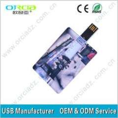 Promotional USB Flash Drive OEM credit card USB Flash Disk with LOGO print