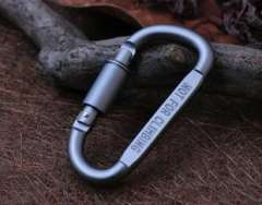 Superhard alloy carabiner | D-type quickdraw | Aluminium D-buckle locking quickdraw | outdoor supplies wholesale
