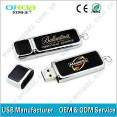 2GB, 4GB, 8GB corporate gift leather usb with high quality, OEM leather usb with logo print