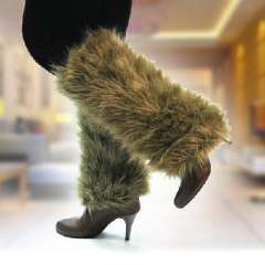 Super hot explosion models in Europe and America long wool fur boot covers / leggings set