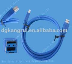 micro 3.0 A to C male usb cable assemlby