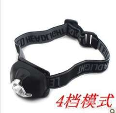 New 4LED Headlamp | hat lamp | White + Red | Use three on the 7th battery | Outdoor necessary