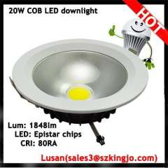 Brilliant quality recessed ceiling 20w led cob down light