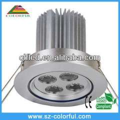 4w led recessed downlight led downlight led downlight with super brightness 2 years warranty time, ip65