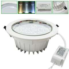 High efficiency 5.5inch 140mm cut out 12w led adjustable downlight