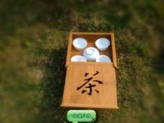 Supplying | Green Jie | Travel Tea | Outdoor bamboo tea tray tea set | Ceramic Kung Fu Tea LJ-3013