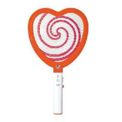 Dr. rechargeable illuminated Electronics Off Mosquito / fly swatter - Heart | Color Random