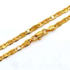 New Trendy Figaro Stud Chain Necklace for men or women Jewelry gift 18K Real Gold Plated Necklaces Wholesale n50104