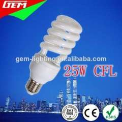 2014 Hot Sale T4 Half Spiral 25W CFL From China Manufacturer