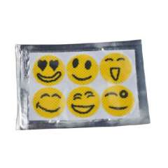 Mosquito repellent smiley face stickers | 6 pcs | Random Color