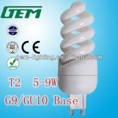 T2 5w\7w\9w Full Spiral Energy Saving Lamps With G9\GU10 Base