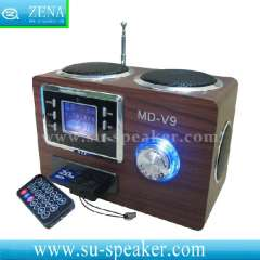 Mobile wood card speaker MD-V9