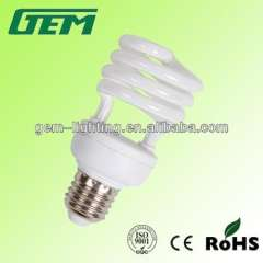 2014 promotion half spiral energy saving fluorescent lamp