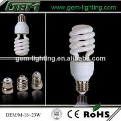 factory directly sale T3 23w half spiral energy saving bulb lighting lamp