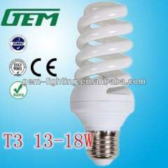 T3 15W Full Spiral Energy Saving Lamp From China Factory