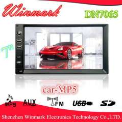 DN7065 2 din car MP5 with LCD display and FM\AM, BT, TV, SD\USB, AUX, HDMI, AV, functions