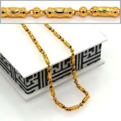 Fashion Suitable for men and women Jewelry Choker Necklaces High Quality 18K Real Gold Plated Necklace Jewelry Wholesale n50053