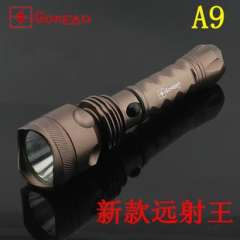 GOREAD A9 Rechargeable Flashlight CREE Q5 flashlight long-range king deepen light cup