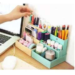 Korean version of the coffee cake theme desktop storage box cosmetics/DIY folding storage box
