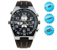 1920*1080P HD waterproof Hidden Watch Camera with Motion Detection 8GB DVR digital recorder